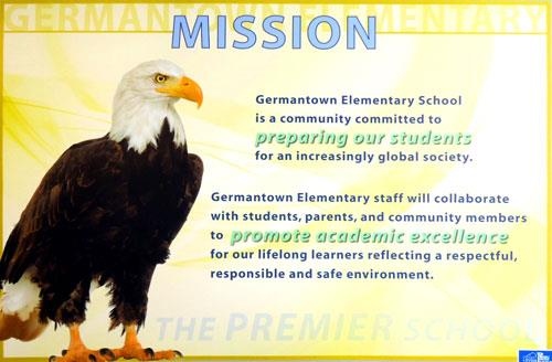 MISSION - Germantown Elementray School is a community committed to preparing our students for an increasingly global society.