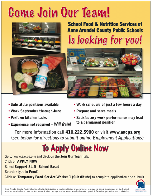 Food & Nutrition Services Help Wanted