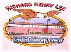 Richard Henry Lee Elementary school drawing of the school
