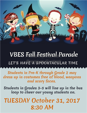 Fall Festival Parade Flyer