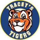 Tracey's circle logo with tiger in the center