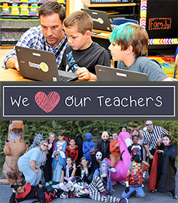 Teachers with Students -we love our teachers