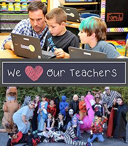 Teachers with Students -we love our teachers