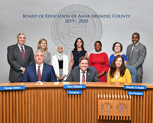 Board of Education Members of Anne  Arundel County 2019-2020