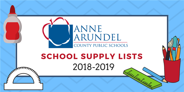 AACPS school supply lists 2018-2019