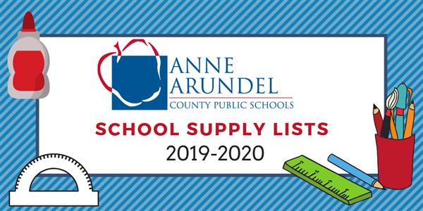 Anne Arundel School Calendar.Gateway Pages School Supply Lists