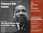 Screen shot of Flyer featuring MLK - download full document using link below
