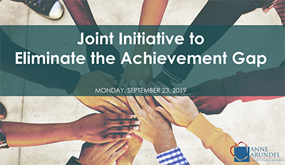Joint Initiative to Eliminate the Achievement Gap - Monday September 23, 2019 - Diverse hands together