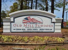 Link to Featured Photos - Image of sign for the Old Mill Complex