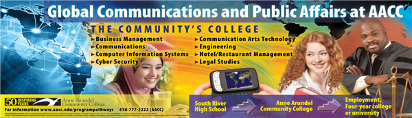 Global Communications & Public Affairs at AACC- image of the world, technology, students, and judge.