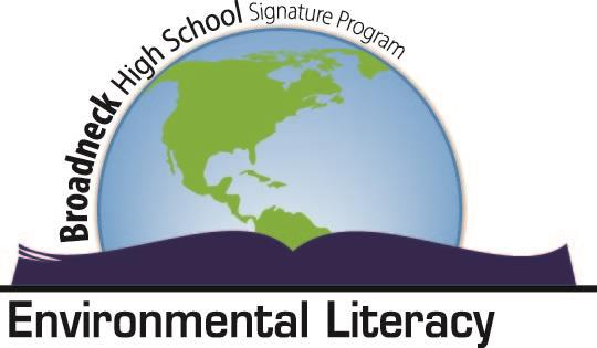 Broadneck Signature- Environmental Literacy.  World sitting on an open book.