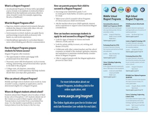 Pamphlet with Frequently Asked Questions about Magnets.  Click here to go to the PDF.