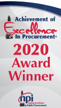 Achievement of Excellence In Procurement 2020 Award Winner