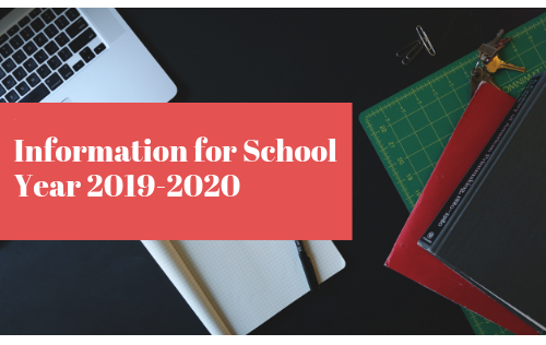 Information for School Year 2019-2020