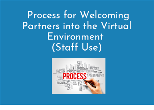 Process for Welcoming Partners into the Virtual Environment (Staff Use)