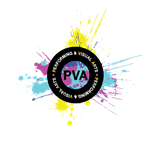 PVA Logo with paint splash