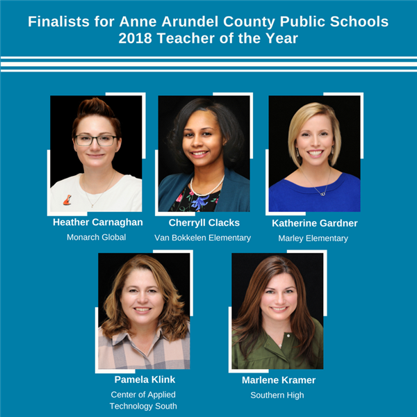 Finalist for AACPS 2018 Teacher of the Year